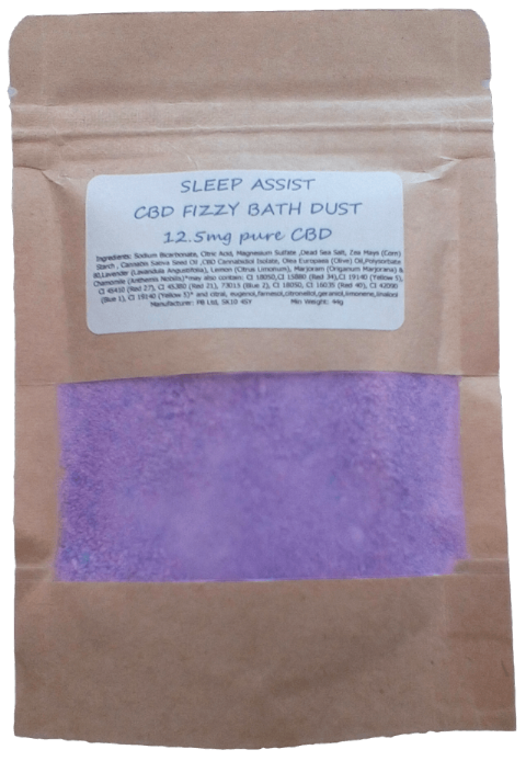 Sleep Assist CBD Hemp Oil Aromatherapy Fizzy Bath Dust - 12.5mg